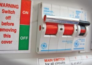 What to do once flood waters have gone. - Select 1 Main Switch In Fuse Box on fuse adapters, fuse tool, circuit breaker box, contactor box, relay box, fuse cover,